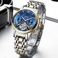 LIGE  классические мужские часы  Лидирующий бренд  Роскошные автоматические механические деловые часы  мужские водонепроницаемые наручные ч...