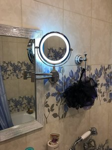 Image 5 - Banyo Led makyaj aynası 1X/3X 5X 7x büyütme duvara monte ayarlanabilir kol ayna çift kol uzatın 2 yüz kozmetik ayna