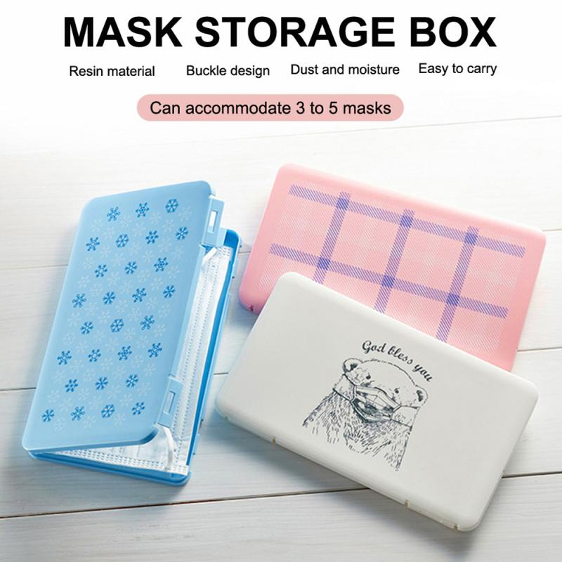 Portable Mask Storage Box Mask Packaging Box Moisture-proof And Plastic Rectangular Storage Box Disposable Mask Box(China)