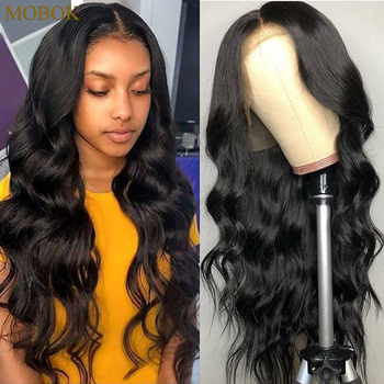 Mobok Brazilian Body Wave Lace Front Wig Remy Human Hair Wigs 13X4 Lace Frontal Wig 360 Lace Frontal Wig Pre Plucked Hairline lace frontal human hair wigs brazilian water wave wig pre plucked natural hairline 150