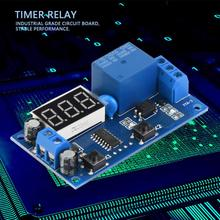 YYA-3 DC 5V Cycle Delay Timer Relay Adjustable Time Control Switch time Delay Relay with LED Display цена