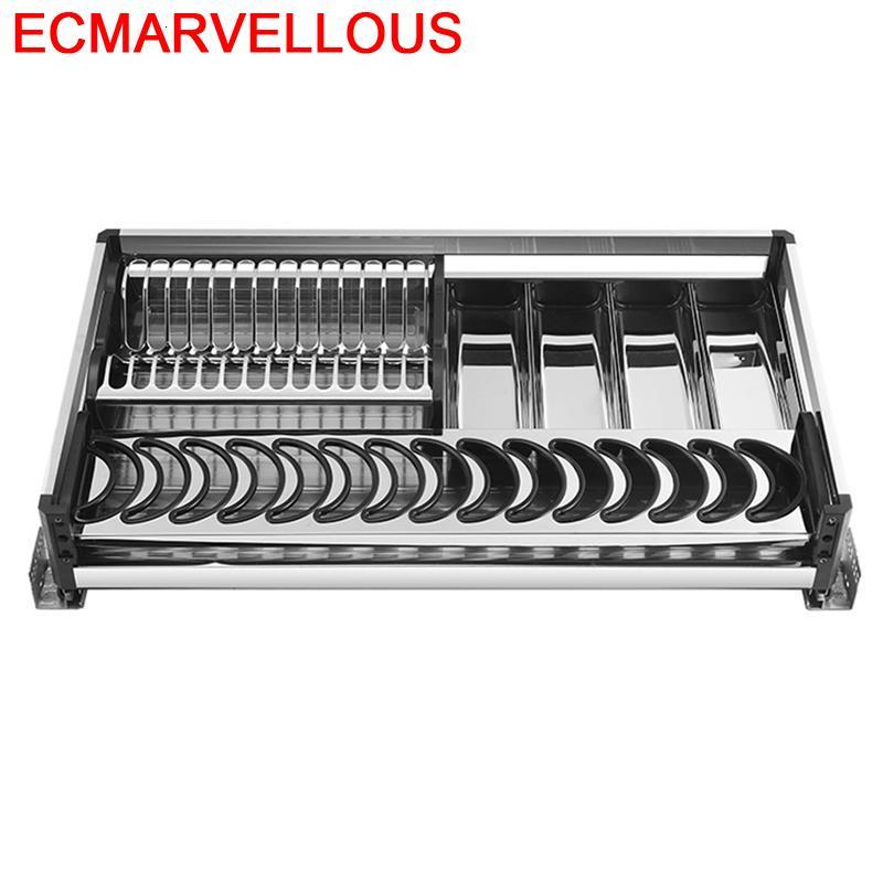 Armario De Cosina Kuchnia Despensa Gabinete Pantries Stainless Steel Cocina Organizer Cozinha Kitchen Cabinet Storage Basket