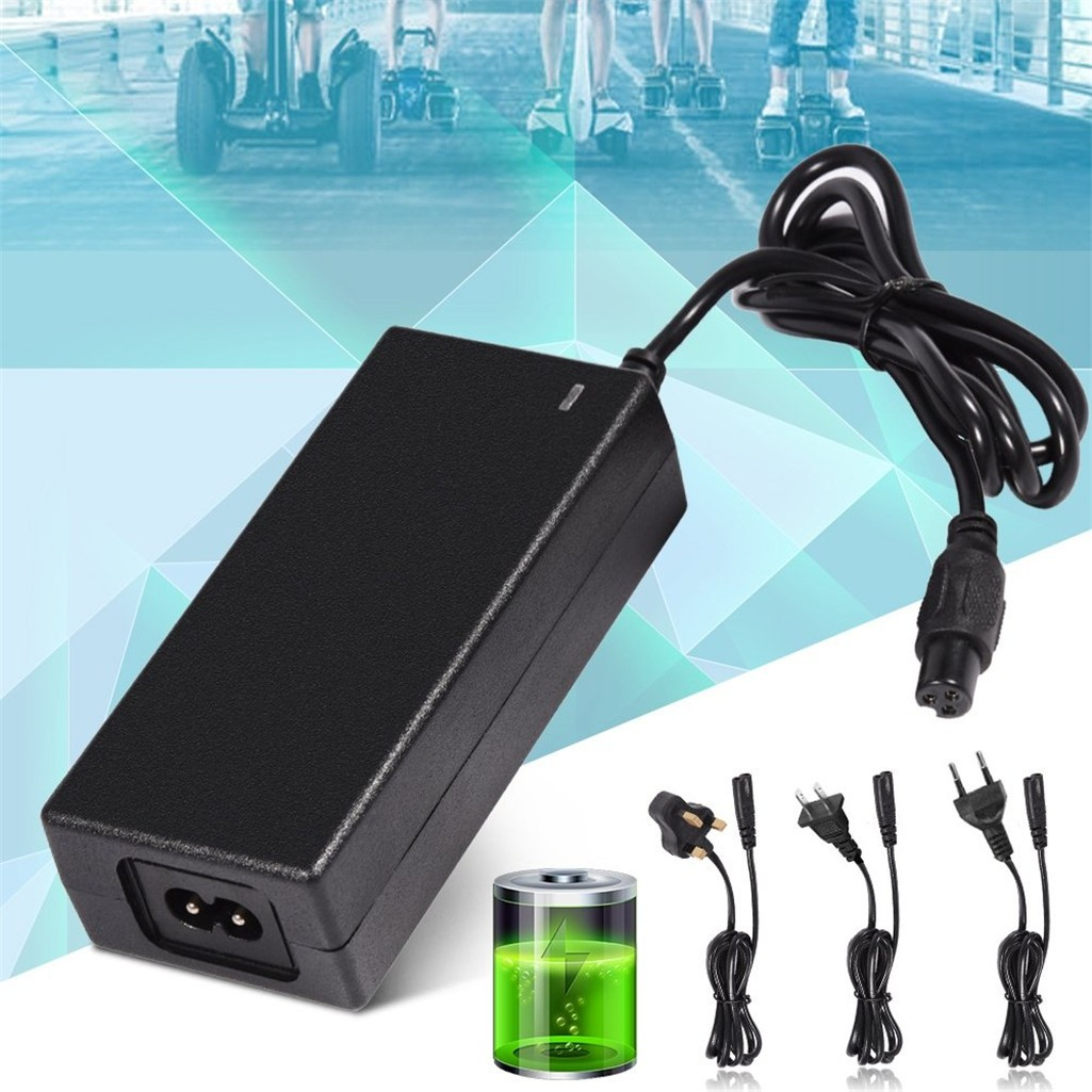 DC 42V 2A Power Adapter Charger for 2 Wheel Self Balancing Smart Scooter