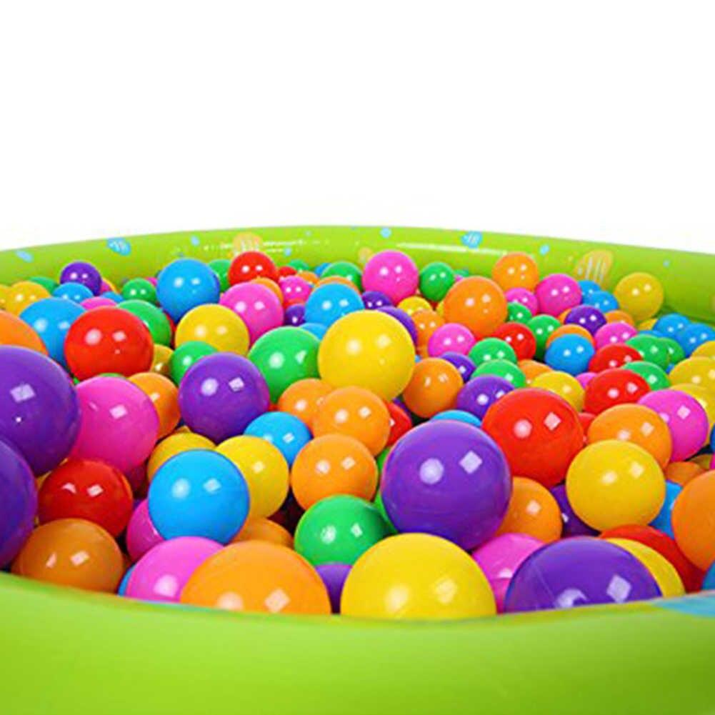 50/100/200Pcs เป็นมิตรกับสิ่งแวดล้อมบอลที่มีสีสันเด็กว่ายน้ำน้ำพลาสติกพลาสติก Ocean Wave ลูกบอล Swim Pit เด็กของเล่น