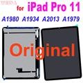 Оригинальный Для iPad Pro 11 A1980 A1934 A2013 A1979 ЖК-дисплей Дисплей кодирующий преобразователь сенсорного экрана в сборе запасные части для iPad Pro 11