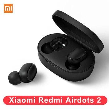 2020 New Xiaomi Redmi Airdots 2 Earphone Bluetooth 5.0 Mi True Wireless Stereo Auto Li TWS Air Dots Headset For iPhone/Xiaomi 9