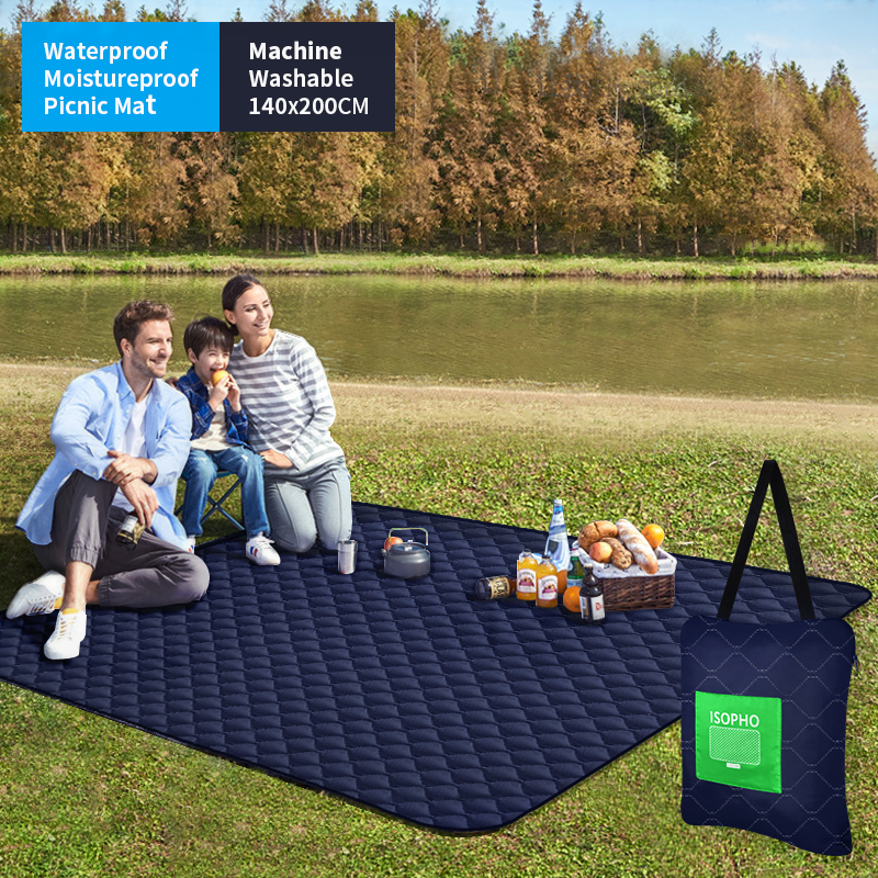 2020 Outdoor Portable Picnic Blanket Mattress Folding Waterproof Camping Bed Moistureproof Tourist Mat With Shoulder Bag140X200