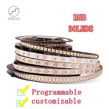JERCIO SK6812 WS2812B RGB 30LEDS/PIXEL /M CHIP SMART DREAM LED STRIP LIGHT individually addressable ip20/65/67 DC5V