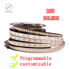 JERCIO SK6812 WS2812B RGB 30LEDS/PIXEL /M RGB CHIP SMART DREAM LED STRIP LIGHT individually addressable ip20/65/67 DC5V(China)