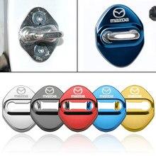 Автомобильный Стайлинг автомобиля эмблемы чехол для Mazda MS логотип 3 для Mazda 6 CX 5 CX-5 2 CX3 CX-7 CX-9 крышка замка автомобильной двери авто-Стайлинг