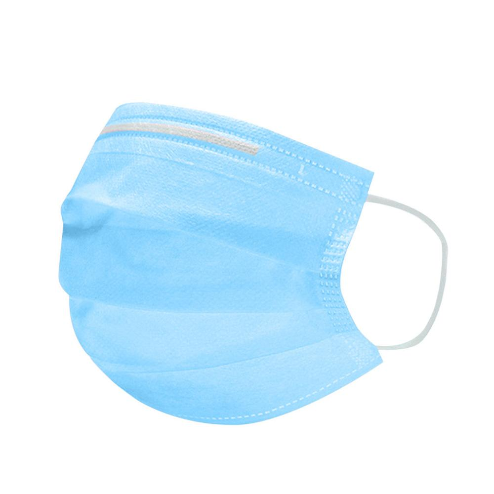 30pcs Blue Protection Disposable Non-Woven Mask Three-layer Filter For Unisex Anti-dust Mouth Nose Mask Ear Hanging Virus Masks
