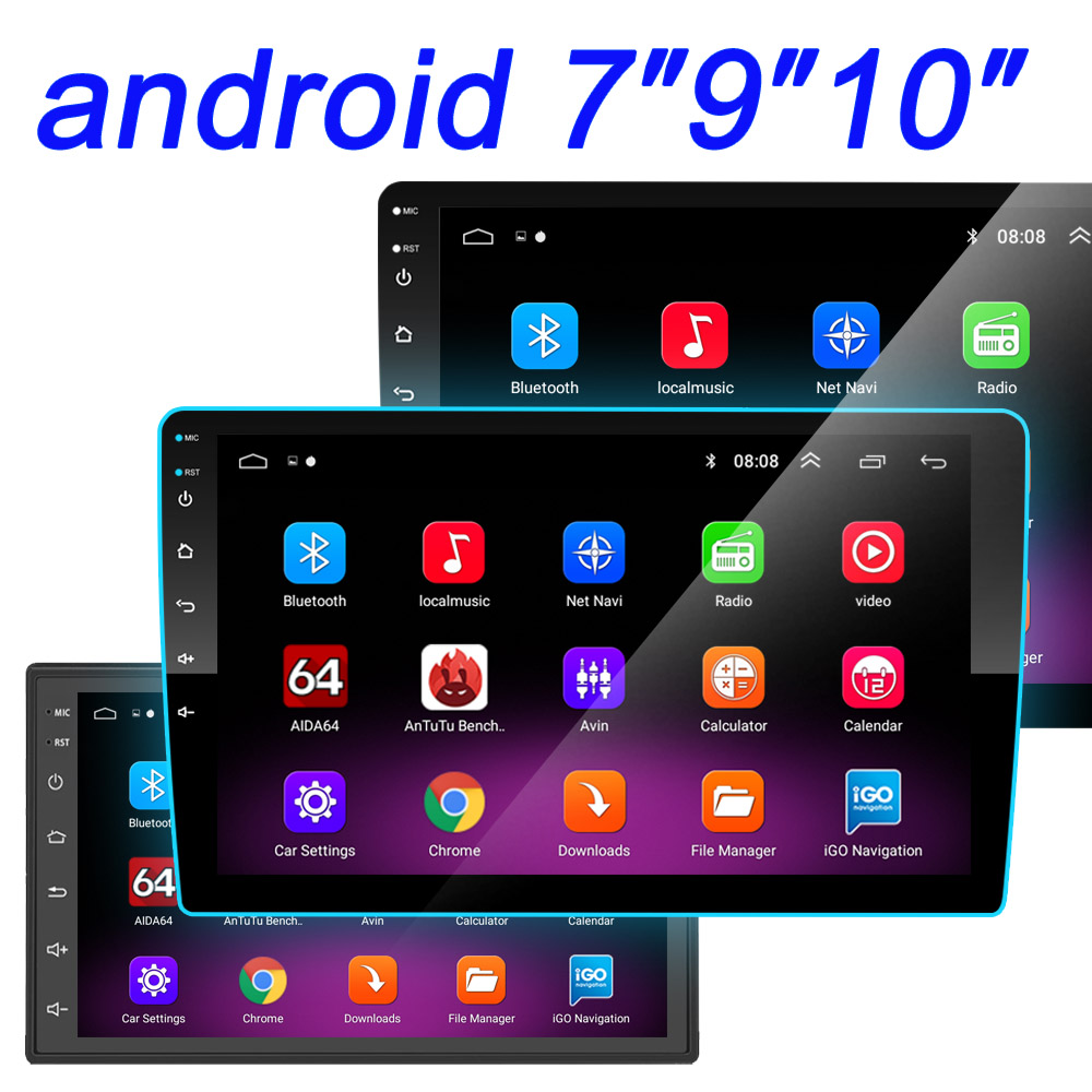 "Autoradio 2 Din 10 ""Android Multimedia Speler Gps Wifi Bluetooth Speler Voor Toyota Volkswagen Hyundai Kia Renault Suzuki 1G 2G 4"