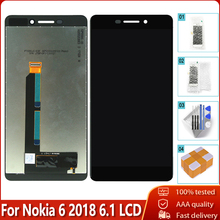 100% Original OEM For Nokia 6.1 LCD Display Touch Screen Digitizer Assembly Replacement Parts Free Tool For Nokia 6.1 LCD
