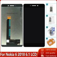 Оригинальный OEM ЖК дисплей для Nokia 6,1, дигитайзер сенсорного экрана в сборе, запасные части, бесплатный инструмент для Nokia 6,1 ЖК дисплей