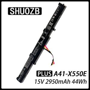 Laptop Battery A41-X550E for ASUS X450 X450E X450J X450JF X751M X751MA X751L X750JA A450J A450JF A450E 15V 2950mAh 44Wh SHUOZB(China)