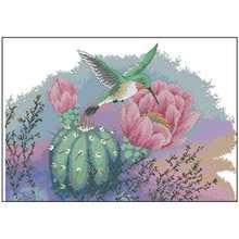 Hummingbird узоры Счетный крест 11ct 14ct 18ct diy китайский