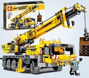 Image 1 - 665pcs Ewellsold Technic วิศวกรรมยก Crane Building Blocks ใช้งานร่วมกับ Technic รถบรรทุกก่อสร้างอิฐของเล่นสำหรับเด็ก