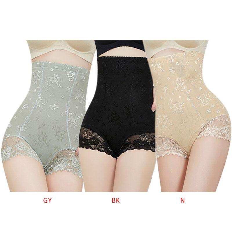Женские трусики для похудения с высокой талией, послеродовое нижнее белье, бесшовное корректирующее белье, жаккардовый цветочный