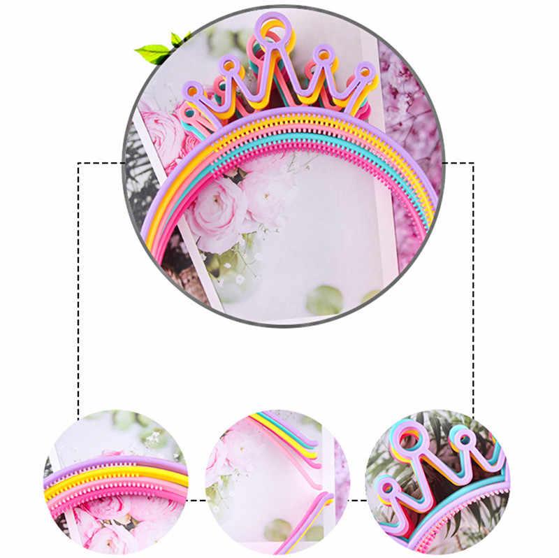 2019 koreanische Haar Zubehör Haar Band Katze Ohren Krone Haarband Kopfschmuck Lünette Headwear Mit Zähne Cartoon DIY Stirnband Kunststoff