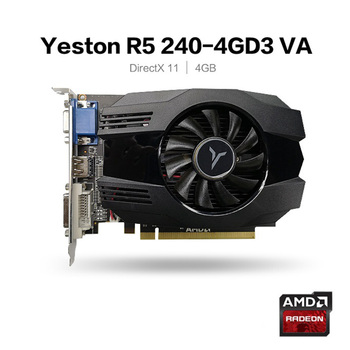 Yeston R5 240-4G D3 VA Graphic Card 650-1333MHz 4G/64bit/DDR3 Gaming Graphics Card with DVI-D / HDMI /VGA 1