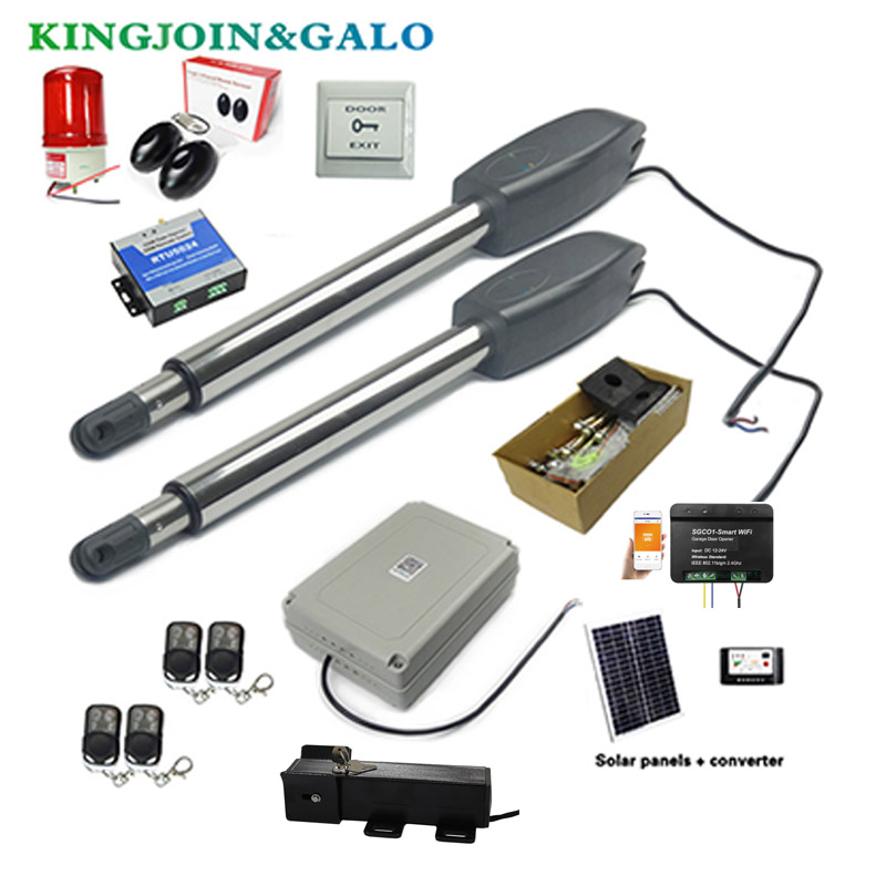 Automatic Dual Arms Electric Swing Door Gate Opener Operator Motor Actuator Closer Swing Gate Opener + Wifi Control System
