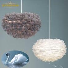 Подвесные светильники с перьями декоративное художественное