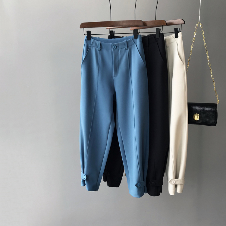 Mooirue Fall Winter Pants Female Ol Office High Highwaist High Waist Woman Pantalon Bottom
