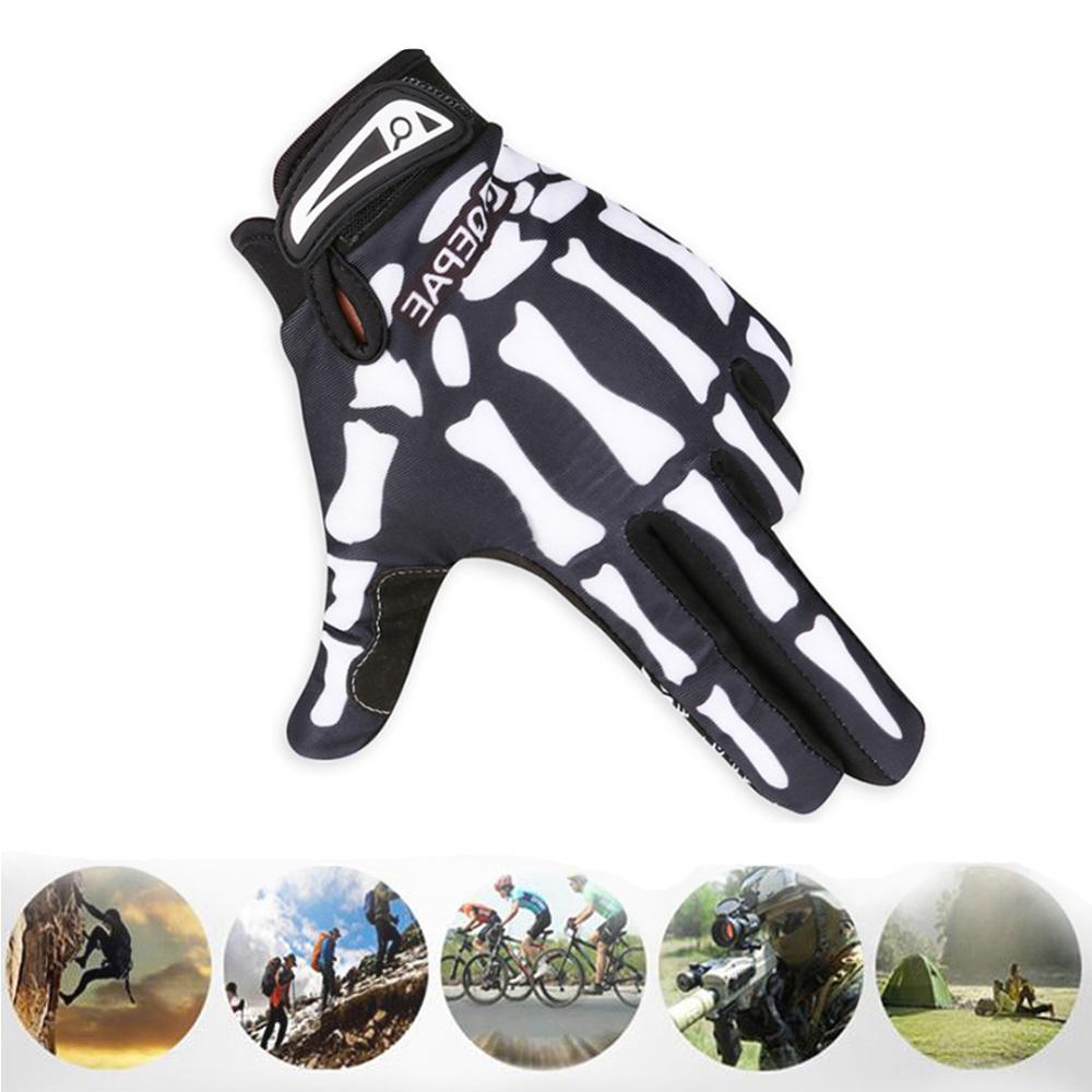 Riding Gloves Long Finger Warm Gloves Cycling Outdoor All Finger Skeleton Gloves 1