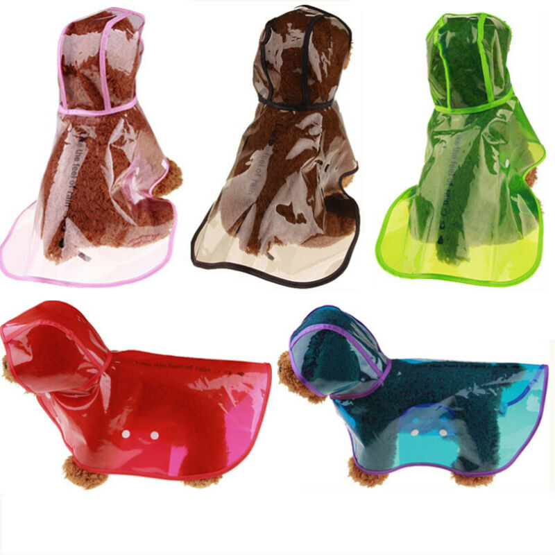 New Arrival Pet Rain Coat For Small Puppy Dogs Jacket Cute Casual Waterproof Dog Clothes Transparent Waterproof Pet Raincoat