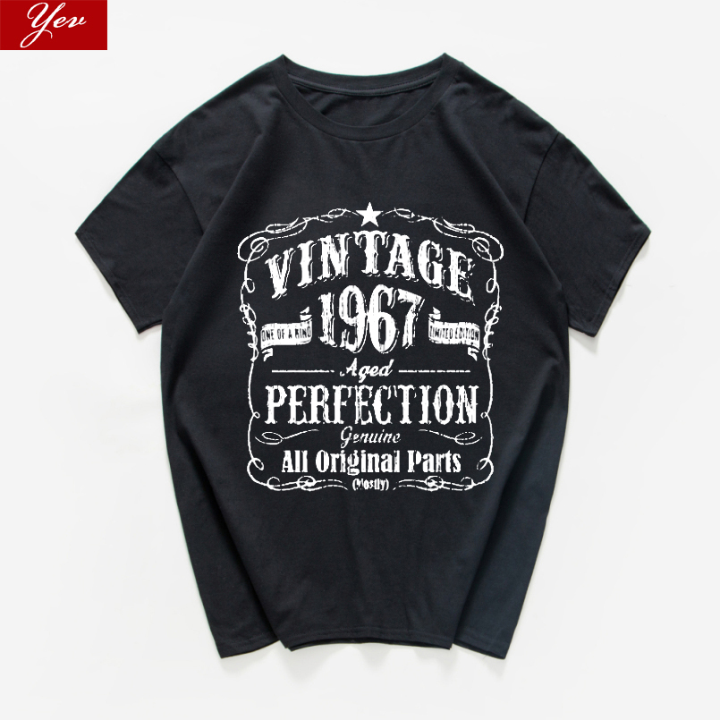 52th Birthday Vintage Vintage 1967/1996/1977/1987 Funny Letter Printed Shirtinvaders Vintage Aged Perfection Men T Shirt
