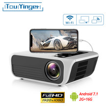 Touyinger L7 LED natywny projektor 1080P 4500 lumenów full HD beamer wideo Android 7.1 wifi AC3 Bluetooth kino domowe HDMI(China)