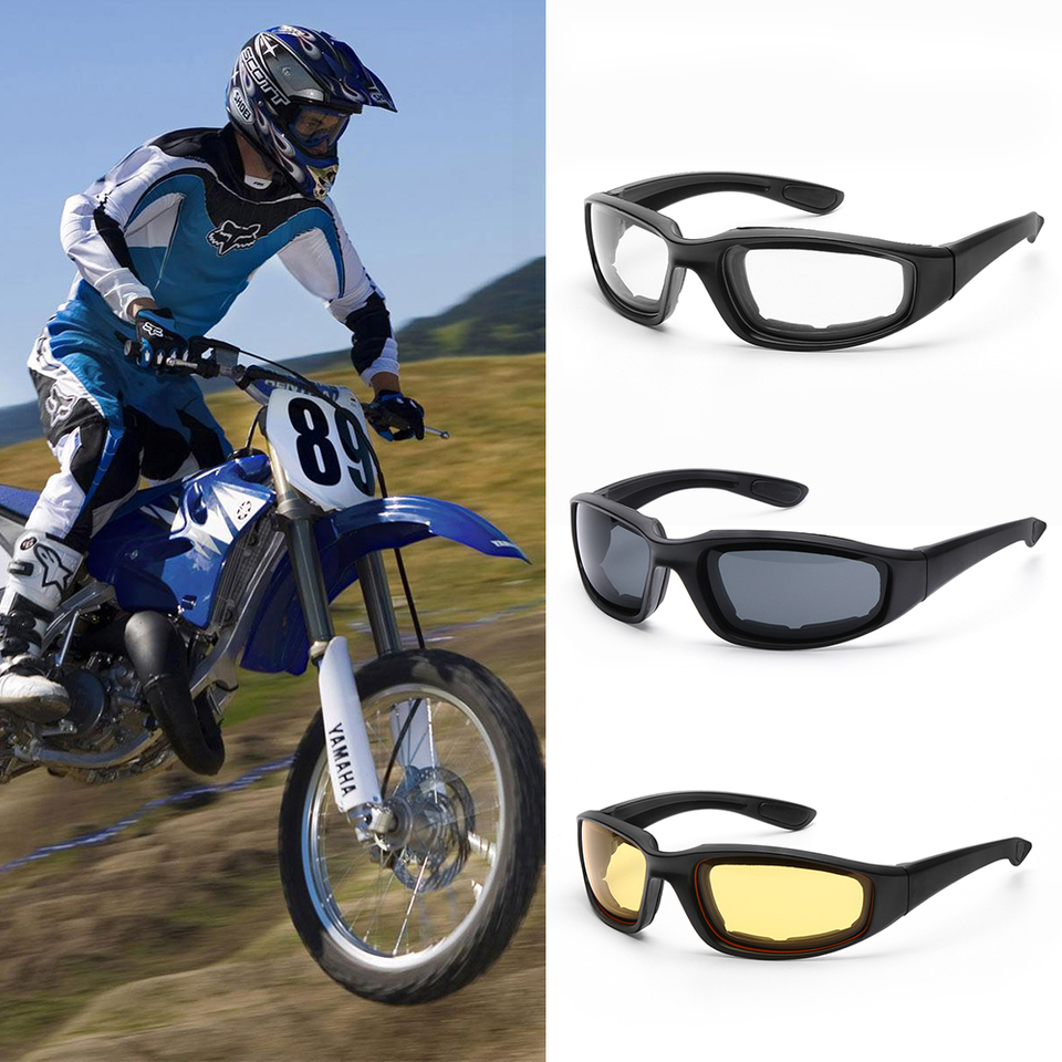 Motorcycle Riding Glasses Wind Resistant padded Comfortable jetski Goggles