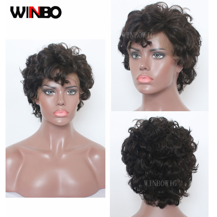 WINBO Pre-Cut Wavy Human Hair 13x6 Lace Frontal Wig For Women 13x4 Brazilian Remy Hair Lace Front Wigs Natural Color