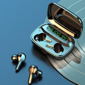 Bluetooth 5,0 наушники 9D Hifi стерео музыкальные наушники спортивные водонепроницаемые беспроводные наушники 2000 мА/ч зарядная коробка с микрофоно...