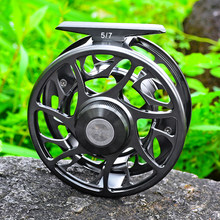 PROBEROS 3+1 BB Fly Fishing Wheel 5/7 7/9 9/10 WT Fly Fishing Reel CNC Machine Cut Large Arbor Die Casting Aluminum Fly Reel(Hong Kong,China)