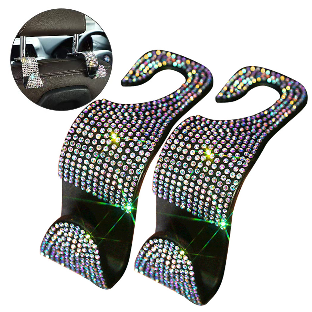 Rhinestone Car Headrest Hooks (BUY 1 Pair Get Another FREE)
