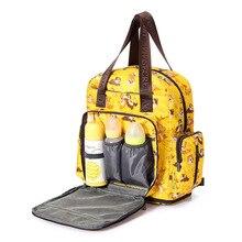 Стиль Печатные сумка из узорчатой ткани в Корейском стиле-Стиль полосы матери сумка мульти-функциональный Автомобиль Подвеска на рюкзак сумка из узорчатой ткани Лидер продаж