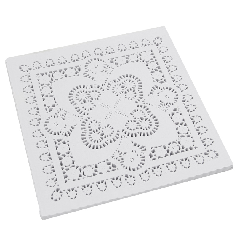 (250 Pcs/Lot) 8 Inch Lace Square Paper Doilies Placemat Craft Doilies Wedding Christmas Tableware Decoration Barbecue Food Bakin