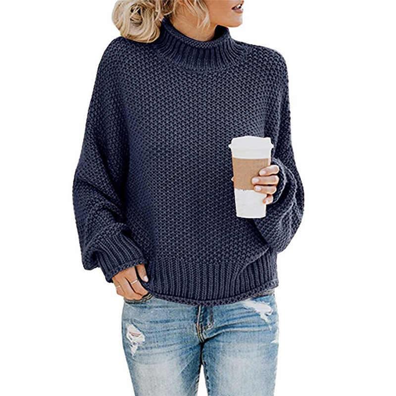 스웨터 니트 터틀넥 스웨터 여성 가을 겨울 2019 새로운 패션 의류 긴 소매 사무실 숙녀 캐주얼 우아한 스웨터
