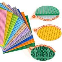 Строительные блоки, аксессуары, игрушки, двухсторонняя Базовая пластина, детские строительные игрушки, совместимые с классическими блоками, игрушки