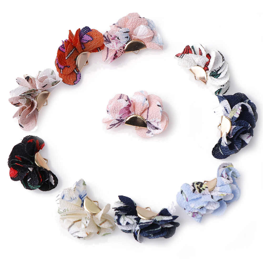 6 ~ 10Pcs ชนิดผสมพู่ DIY ดอกไม้ผ้าไหมโพลีเอสเตอร์ Charms จี้ Drop ต่างหูพู่แฟชั่นผู้หญิงกระเป๋าเครื่องประดับอุปกรณ์เสริม
