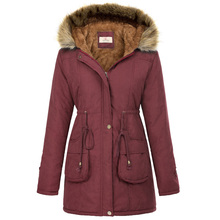 2019 Women parkas Winter Warm Thicken coat with hooded Fleece Lined Coat slim fit female Outerwear