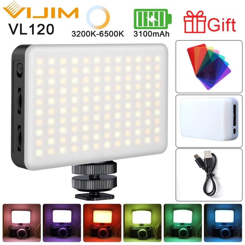 Dslr-Camera Fill-Light Vlog Cold-Shoe Ulanzi VL120 Photography 112/VIJIM with RGB FILTER