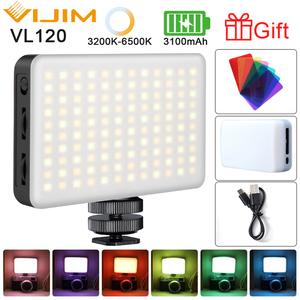 Ulanzi 112/VIJIM VL120 DSLR Camera LED Video Light With Cold Shoe RGB Filter Vlog Fill Light On-Camera Photography Studio Light