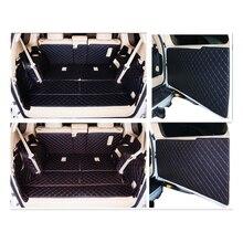 סט מלא תא מטען מחצלות & חזרה מחצלת דלת עבור טויוטה לנד קרוזר פראדו 150 7 מושבים 2018 2010 מטען אוניית אתחול שטיחים