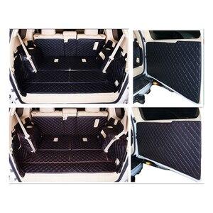 Image 1 - Volledige set kofferbak matten & back deur mat voor Toyota Land Cruiser Prado 150 7 zetels 2018 2010 cargo liner boot tapijten