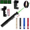 High Power Green Laser Pointer That Burn Match Powerful Laser 303 Light Match Adjustable Focus Lazer Pen With 18650 Battery