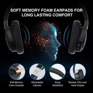 Image 2 - TeckNet składany zestaw słuchawkowy Bluetooth 5.0 z mikrofonem bezprzewodowy zestaw słuchawkowy Bluetooth redukcja szumów Hi Fi słuchawki nauszne stereo z Bluetooth