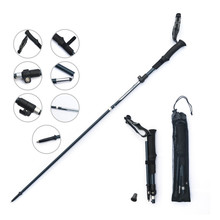 Zenph Trekking Pole 3 Sections Folding Telescopic Ultralight Walking Stick Outdoor Hiking Equipment Accessories