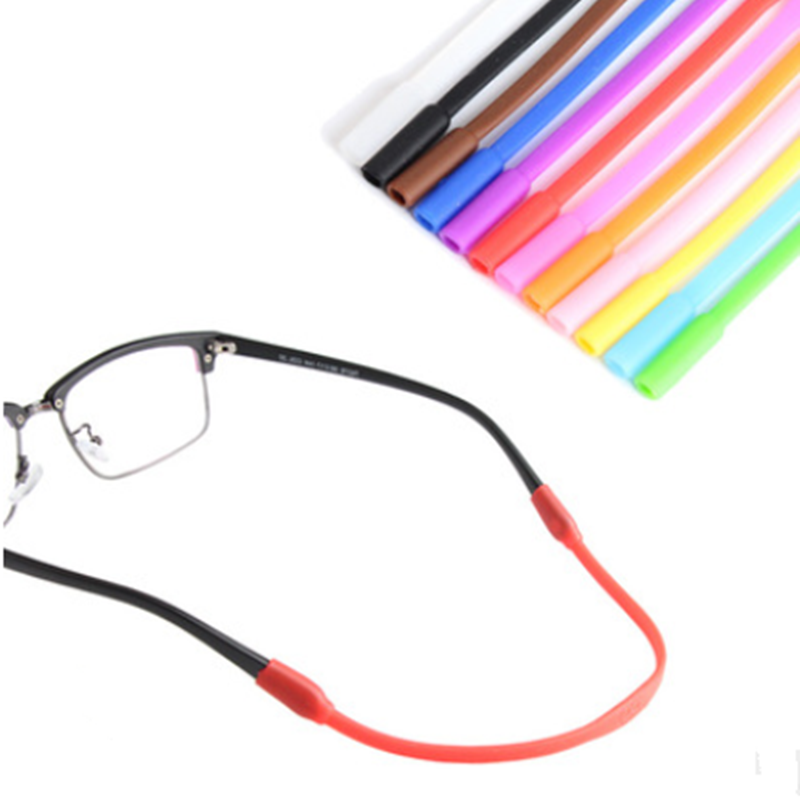 1 PC Adjustable Color Elastic Silicone Eyeglasses Straps Sunglasses Chain Sports Anti-Slip String Glasses Ropes Band Cord Holder